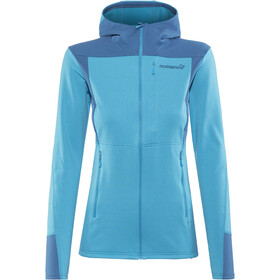 Norrøna W's Falketind Warm 1 Stretch Zip Hoodie Blue Moon